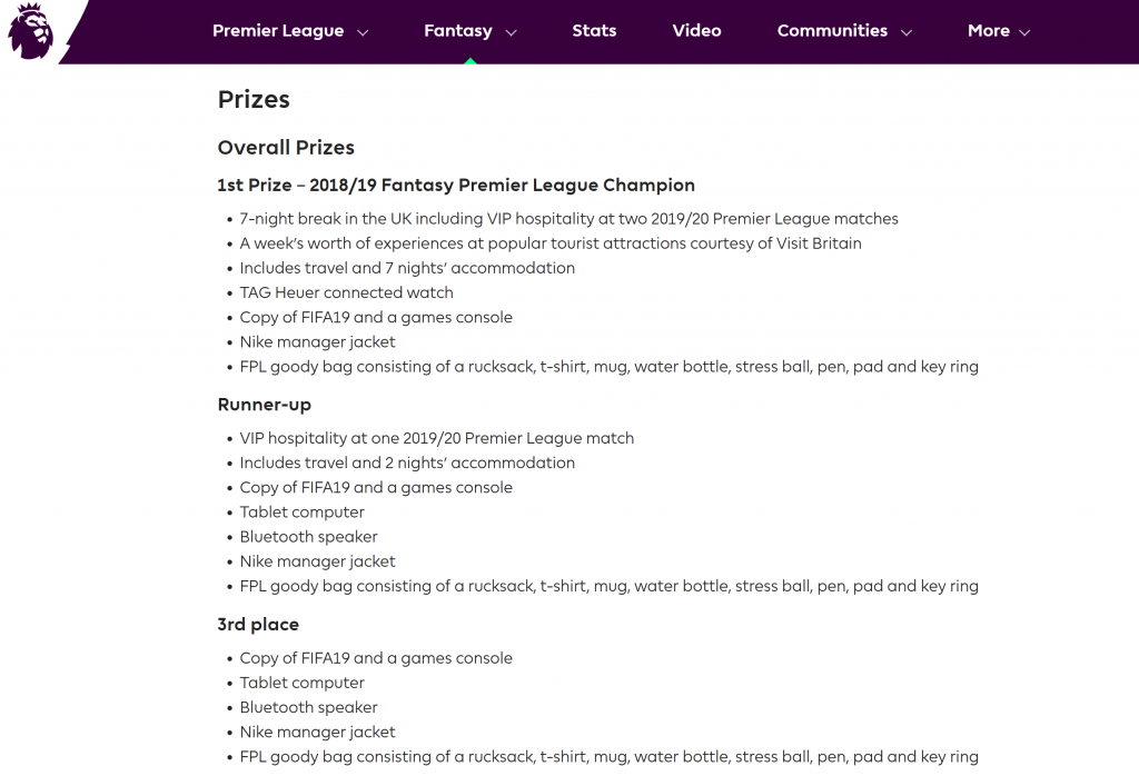 fpl prizes